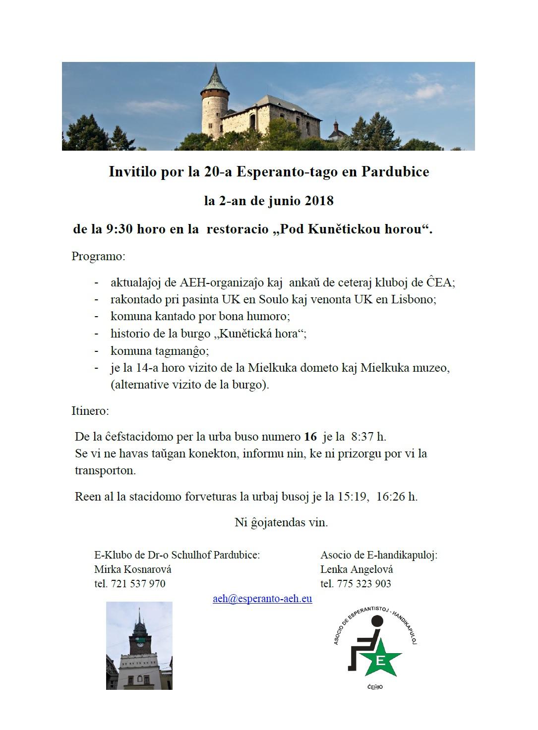 20.Esperanto-Tago en Pardubice