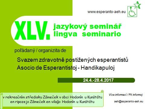 pozvánka na jazykový seminář 2017 jaro